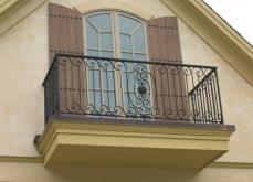 Wrought Iron Square Balcony Milwaukee WI
