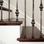 Close Up of Custom Iron Rod Railings in WI