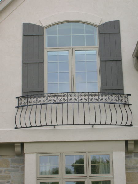 Custom Wrought Iron Designs For Balcony Railings In