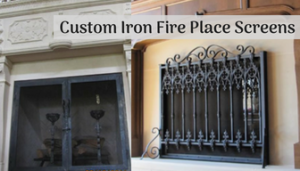 Custom Iron Fire Place Screens in WI