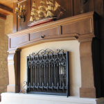 Decorative Iron Fire Place Screen with Scrolls in Wisconsin